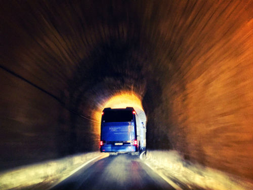 tour bus going to elafonisi - topolia tunnel