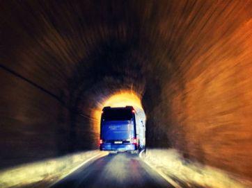 tour bus going to elafonisi - topolia tunnel