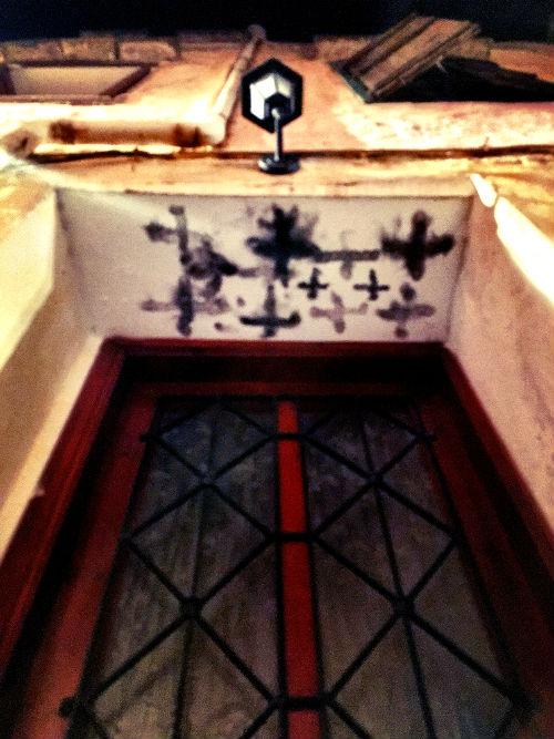 what lies above the door