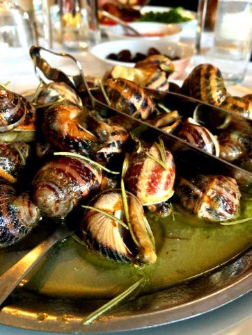 wild snails with cretan herbs
