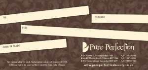 pure perfection gift voucher