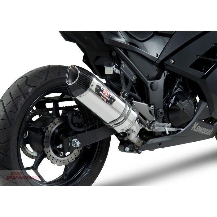 yoshimura r 77 signature slip on exhaust 2013 2017 kawasaki ninja 300