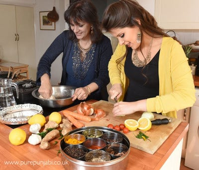 Pure Punjabi Indian Cookery School-mother & daughter Surinder-Safia