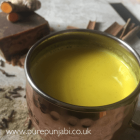 Golden latte Golden spiced latte Haldi doodh turmeric milk