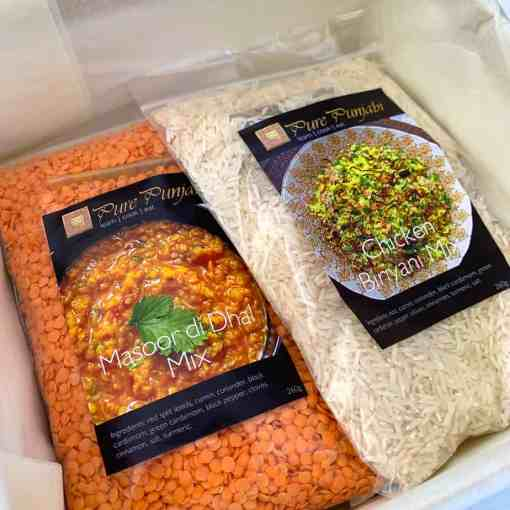 Pure Punjabi traditional meal kit box sachets