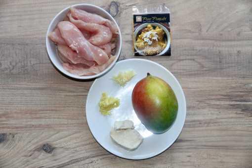 Pure Punjabi Mango Chicken meal kit sachet