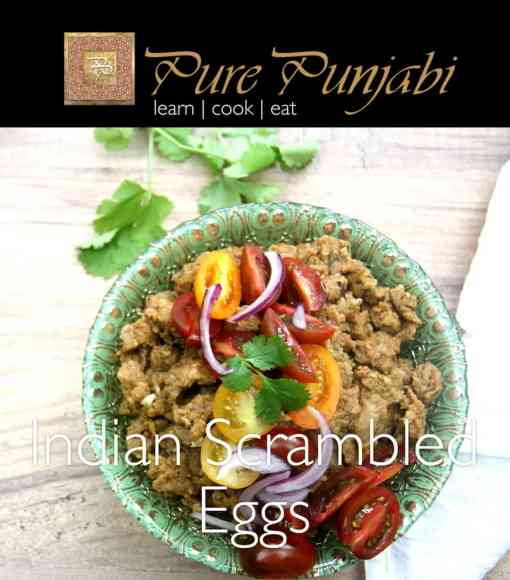 Indian scrambled eggs, Indian meal kits, pure punjabi meal kits
