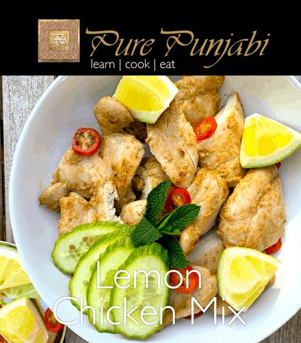 Pure Punjabi Lemon chicken mix, gluten free, dairy free, wheat free,