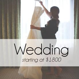 Wedding Photography starting at $1800