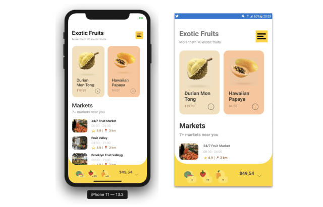 Replicating Exotic Fruits App in Xamarin Forms