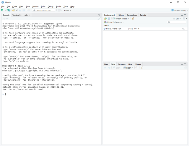 RStudio - First launch