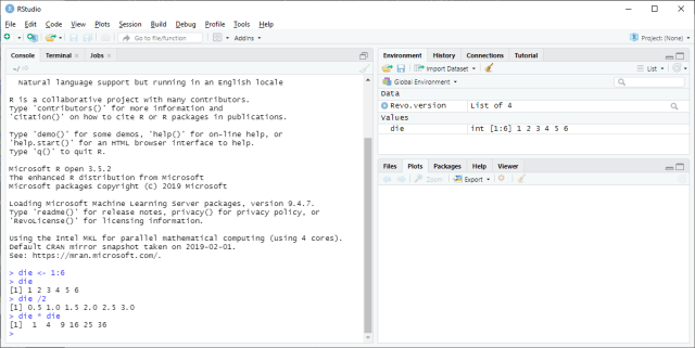 RStudio - Operation with an object
