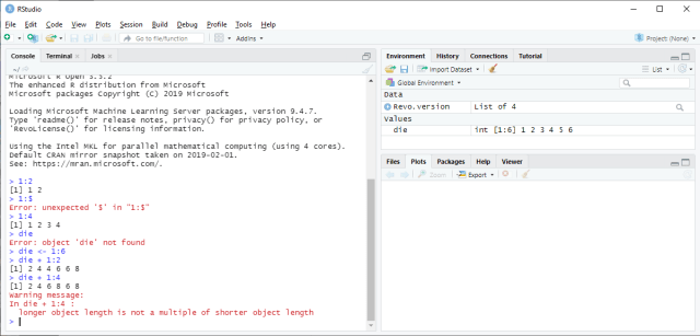 RStudio - Object operations