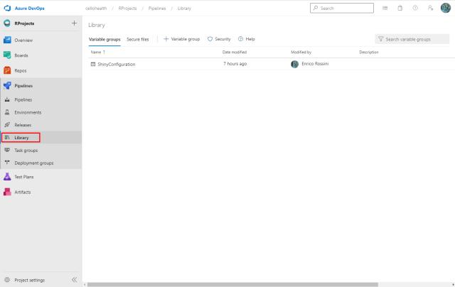 Library in Azure DevOps - Customize your pipeline in Azure DevOps