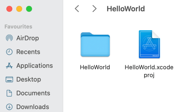 HelloWorld on disk - Hello World using Xcode and Swift