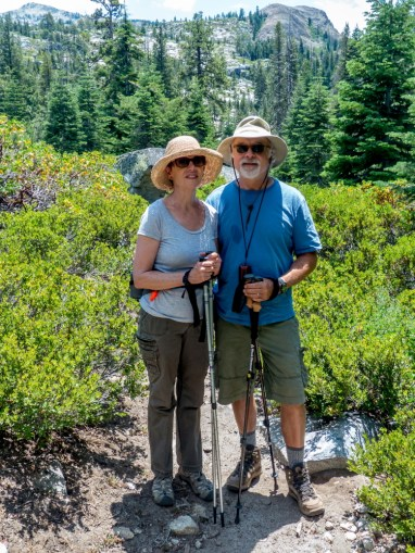 Geoff and Kate hiking Rubicon Trail