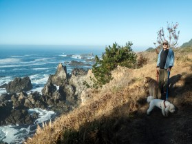 the southerly hike from the campground