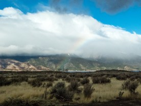 Rainbow as we were leaving