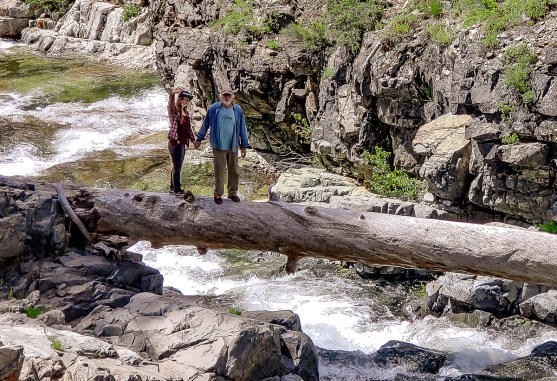 Olallie and I over Pass Creek