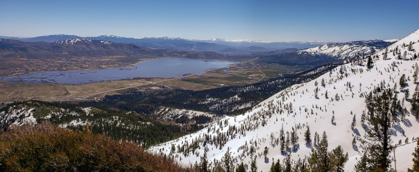 Looking down on Washoe from the Mt. Rose