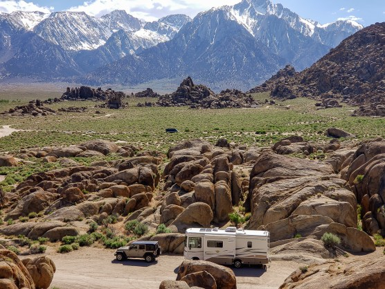 boondocking in Alabama Hills