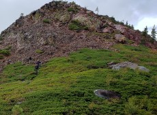 fall creek mountain climb
