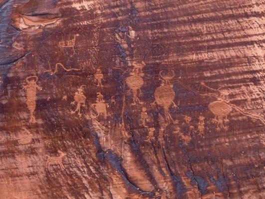 Petroglyphs along the Colorado River