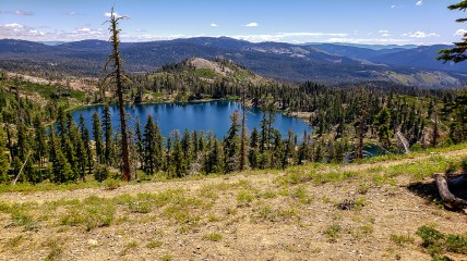 Pacific Crest Trail in foreground