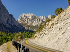 On road to Whitney Portal