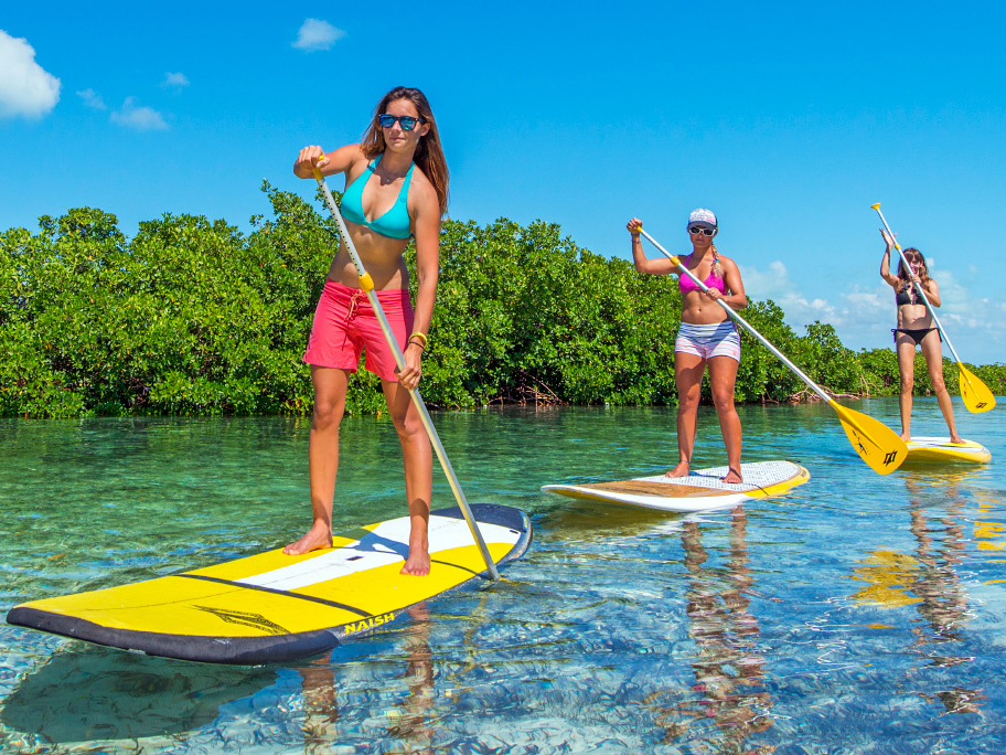 Paddleboarding in Turks and Caicos