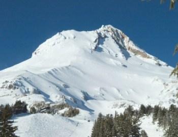 Skiing on Mount Hood in Oregon