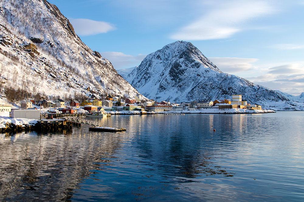 The scenery of Oksfjord nr Alta