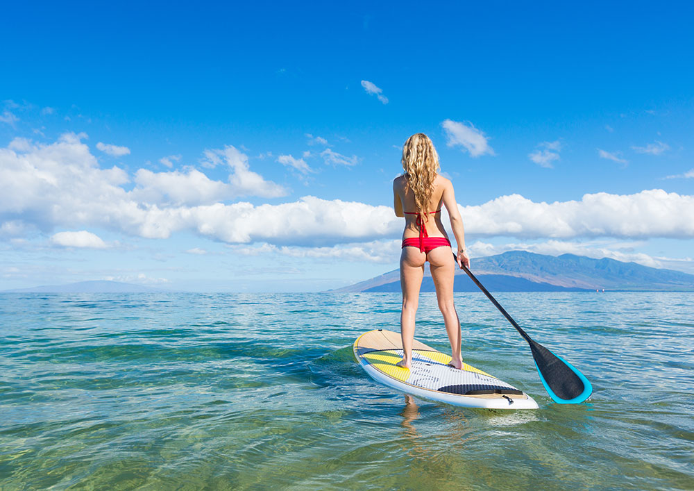 Paddleboarding in the Canary Islands