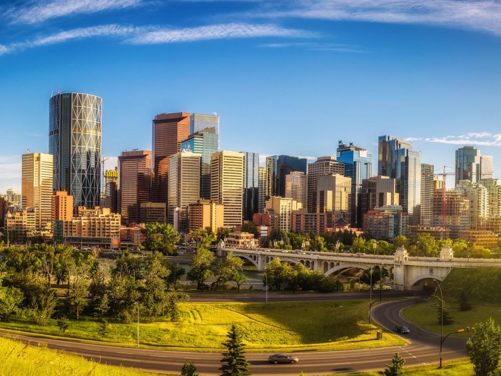 City skyline of Calgary, Canada