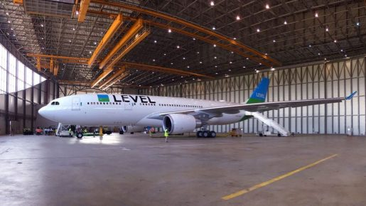 Level Airlines in Hanger