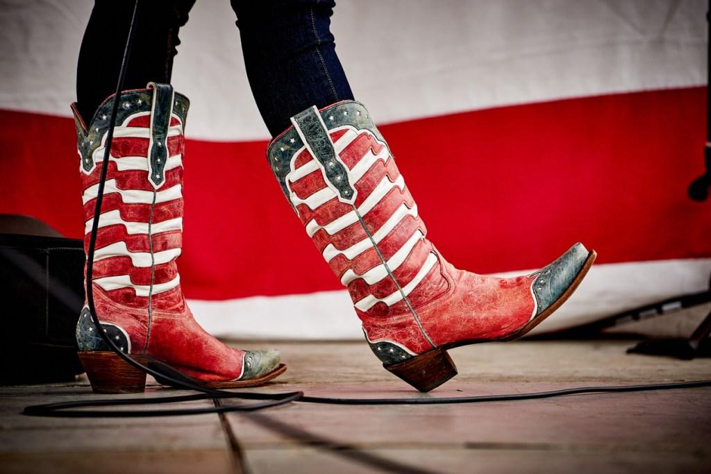 Patriotic Cowboy boots in Nashville