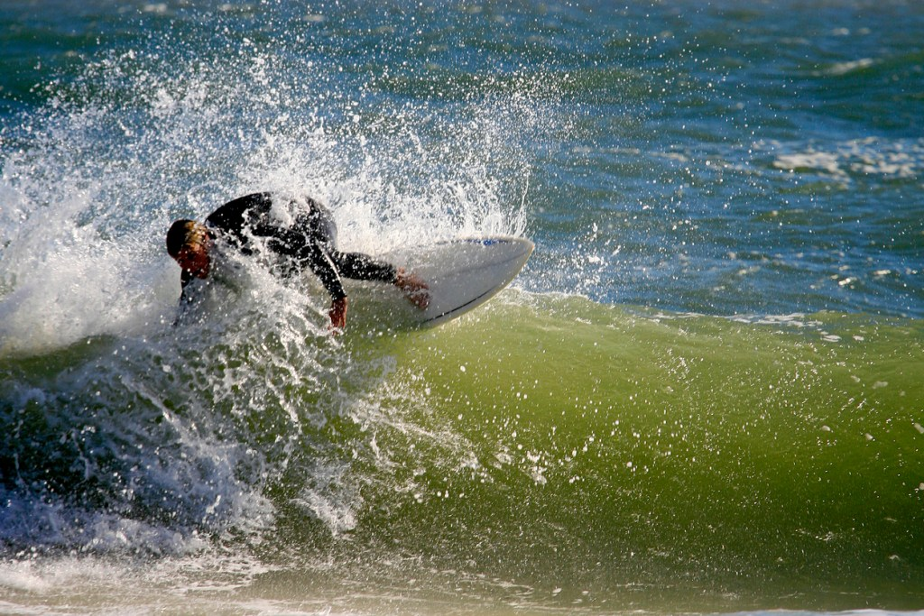 Surfer at the Outer Banks in North Carolina