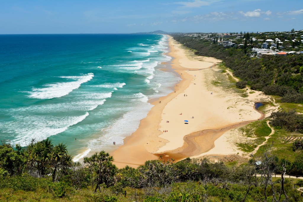 View over Sunshine Beach south of Noosa, QLD
