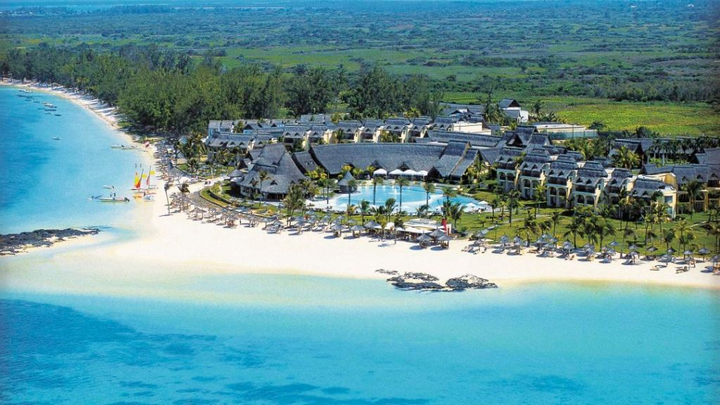Overlooking the Lux Belle Mare Resort Hotel in Mauritius