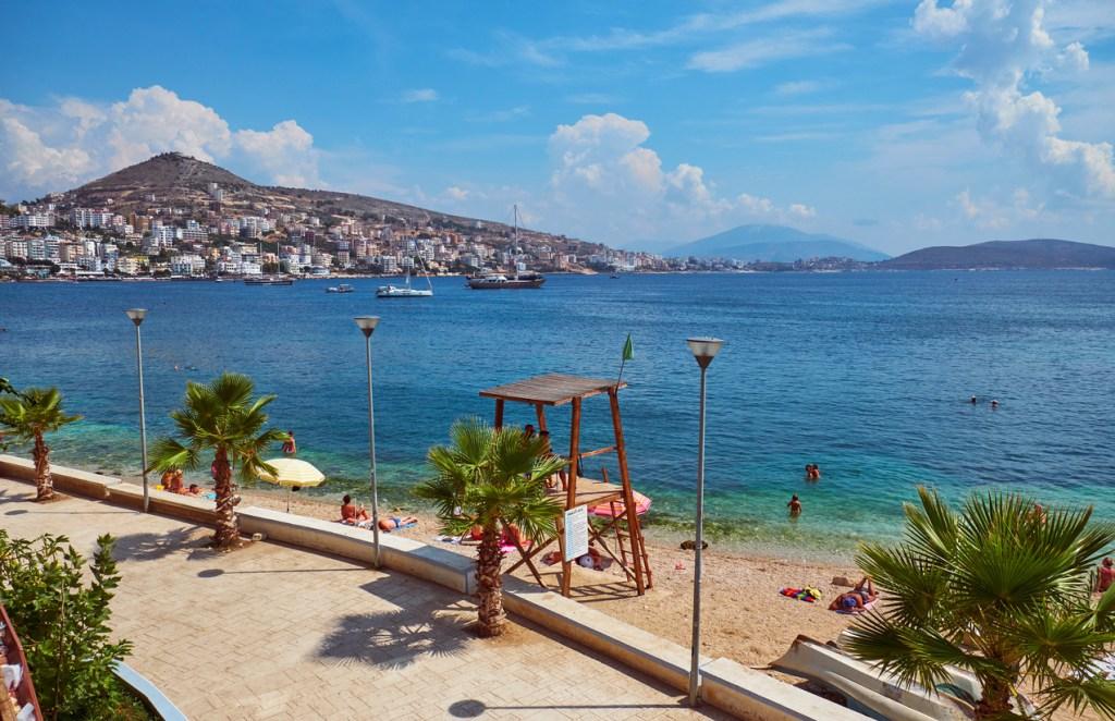View of the shore of Saranda, Albania