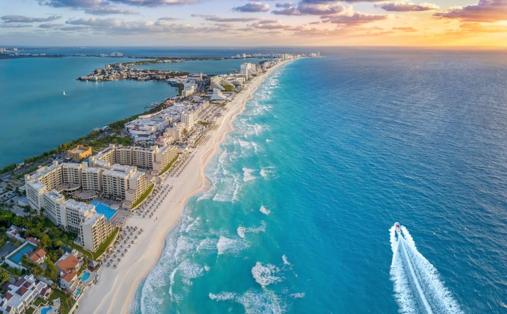 Cancun beach during the summer