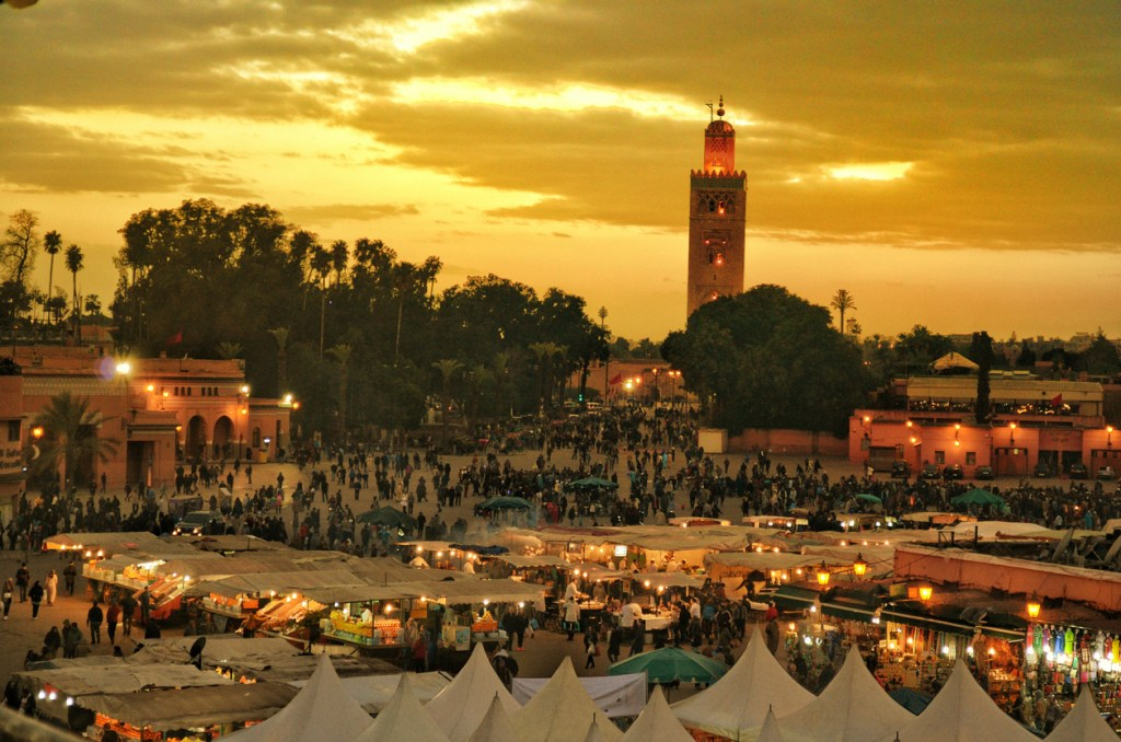 Djemaa El Fna Square. The most famous place in Marrakech.