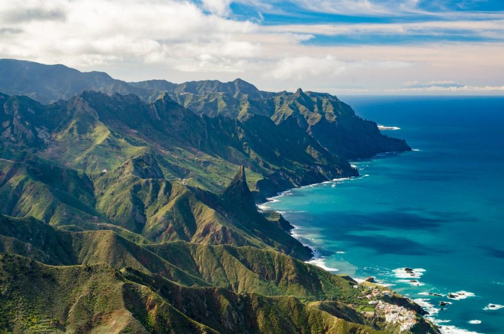 Anaga mountains and Atlantic ocean coast, Tenerife, Canary Islands, Spain