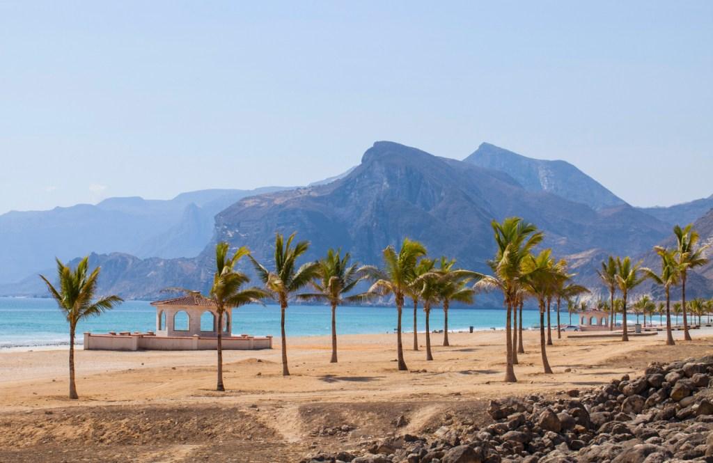Beautiful beach near Al Mughsayl, Oman.
