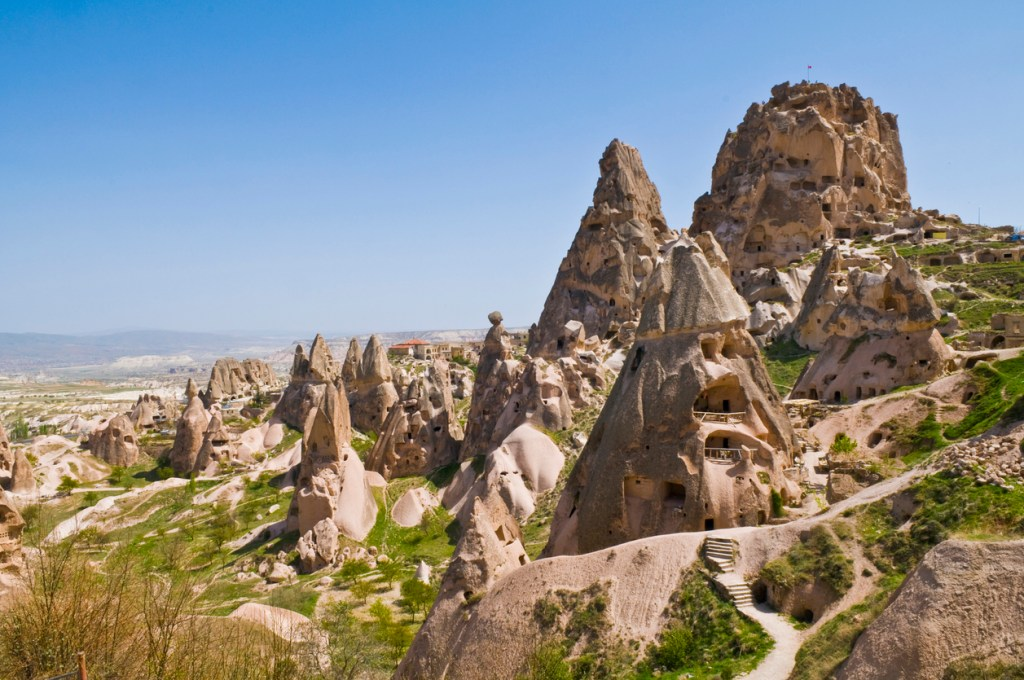 The special stone formation of Cappadocia, Turkey