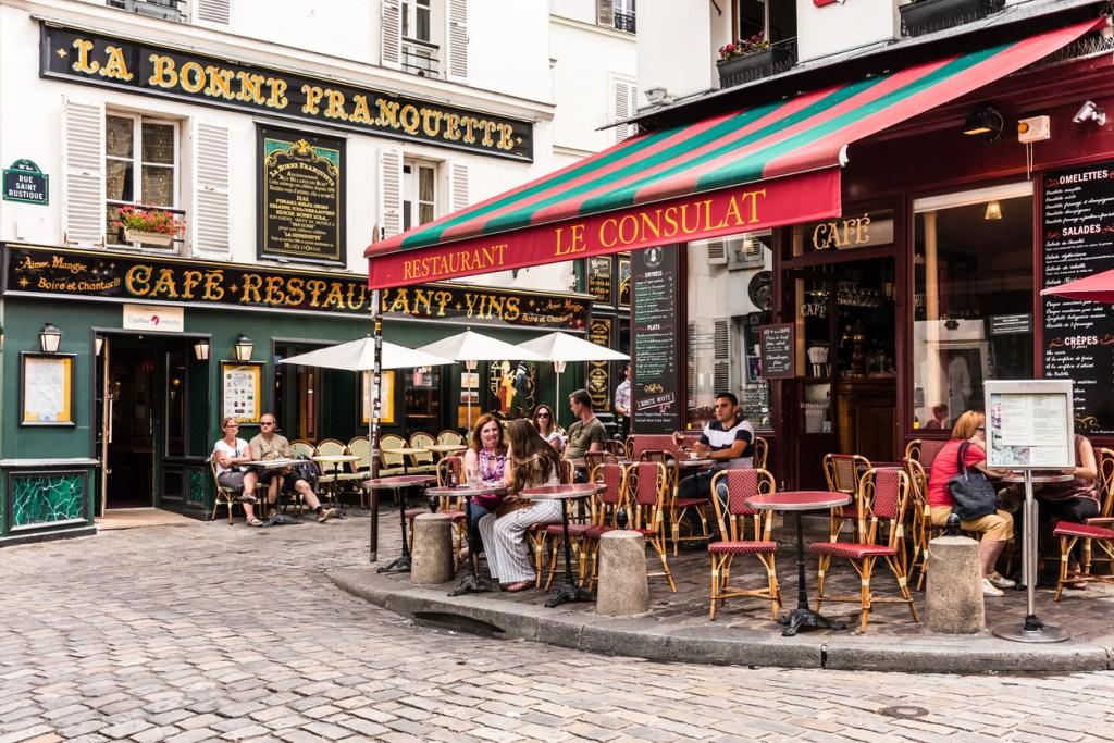 Charming restaurant Le Consulat on the Montmartre hill. Paris, France