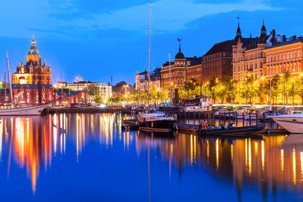 Old Town in Helsinki, Finland