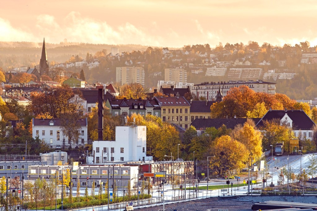 View of Oslo city in the morning