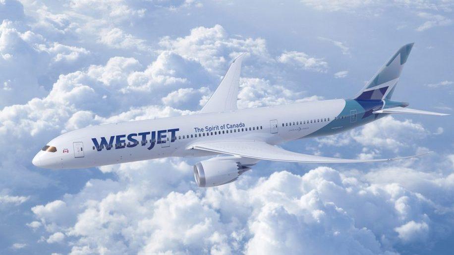 A new West Jet 787-9 Dreamliner