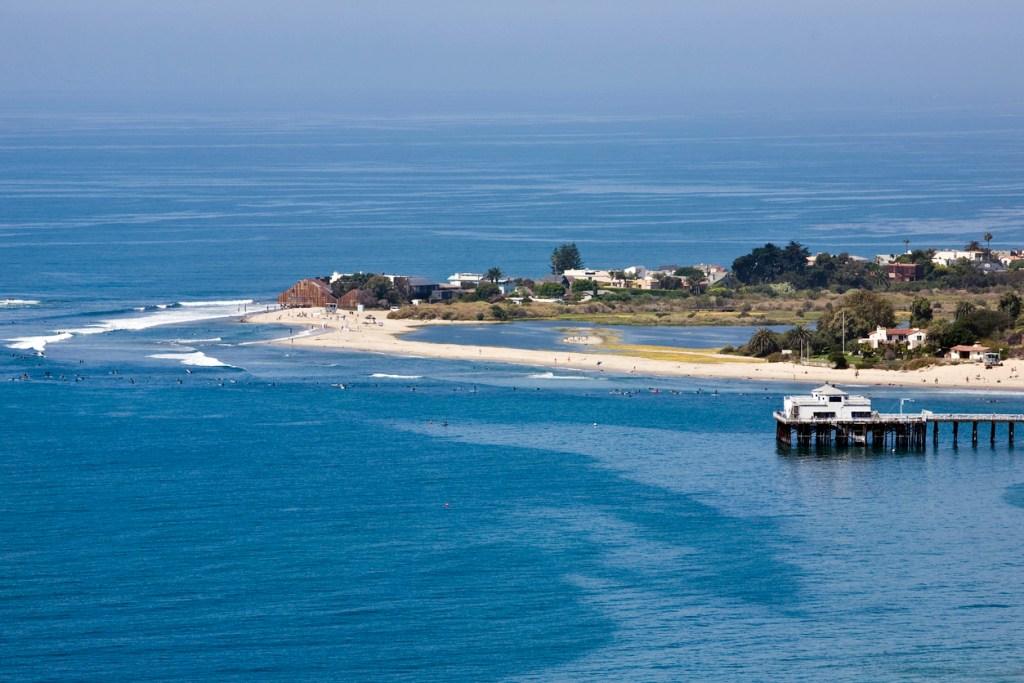 Surfing in Malibu California